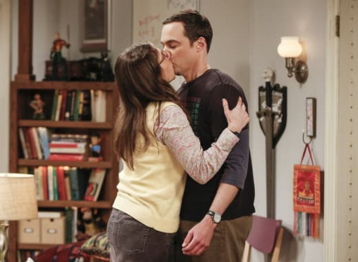 Amy Kisses Sheldon - The Big Bang Theory Season 10 Episode 23