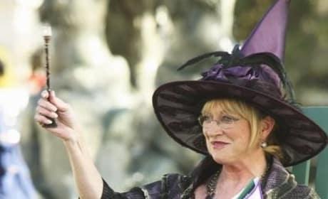 Bun Dressed as a Witch