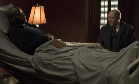 Red checks in on Dembe - The Blacklist Season 4 Episode 18