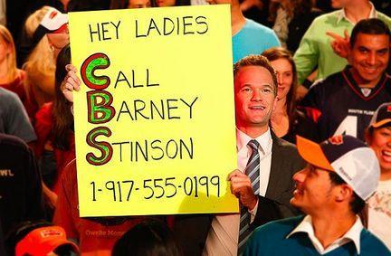 Barney at the Super Bowl