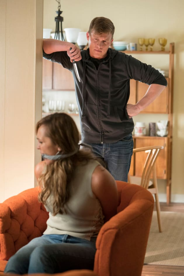 Stahl Holds Gina Hostage - Shades of Blue Season 3 Episode 6