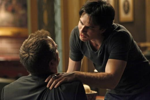Damon vs. Caroline's dad