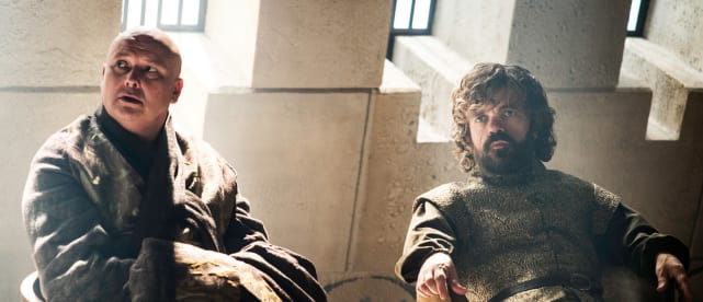 Varys and tyrion chilling out game of thrones