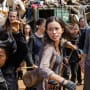 Rosita takes a swing - The Walking Dead Season 7 Episode 10