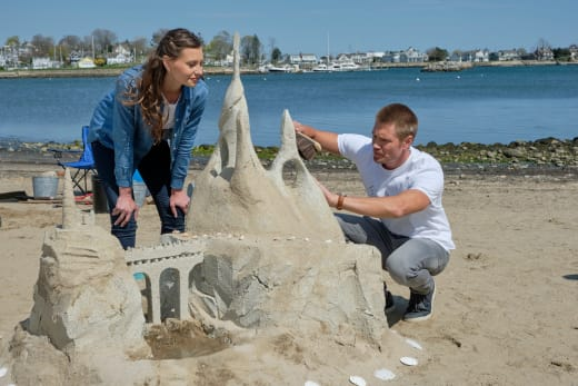 Sand Castle Masterpiece at Work