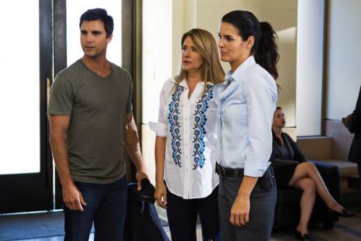 Colin Egglesfield and Lorraine Bracco on Rizzoli & Isles