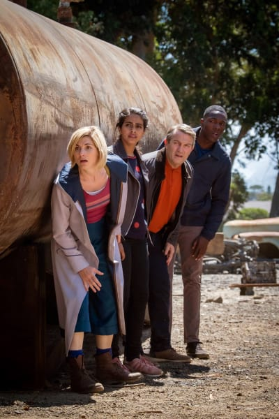 Crouching out of sight - Doctor Who Season 11 Episode 3