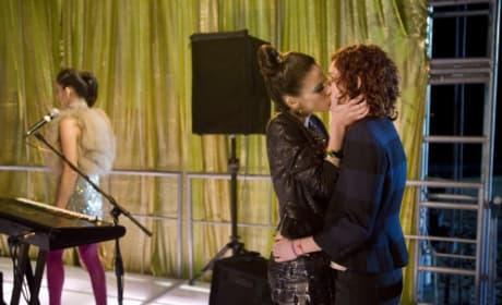 Girl-on-Girl Kiss
