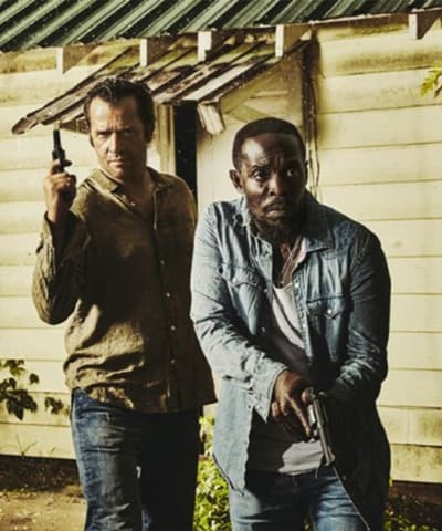 Hap and Leondard with guns - Hap and Leonard