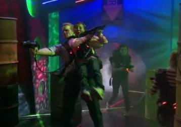 Barney Plays Laser Tag
