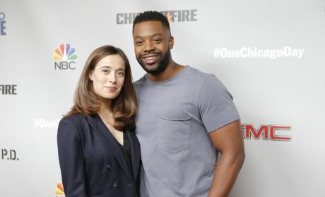 LaRoyce Hawkins and Marina Squerciati - Chicago PD