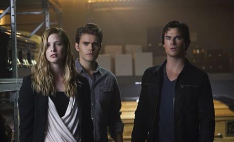 Valerie, Damon and Stefan - The Vampire Diaries Season 7 Episode 5
