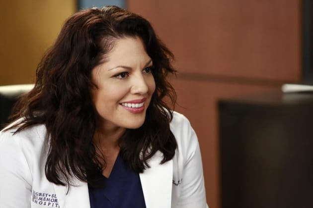 Smiling Callie - Grey's Anatomy Season 11 Episode 10