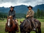 John and Kayce Dutton on Horseback - Yellowstone Season 3 Episode 1
