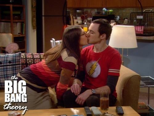 Amy Kisses Sheldon