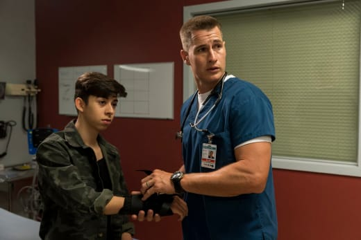 Drew Treats a Kid - The Night Shift Season 4 Episode 8
