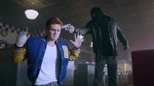 The Black Hood Attacks Archie - Riverdale