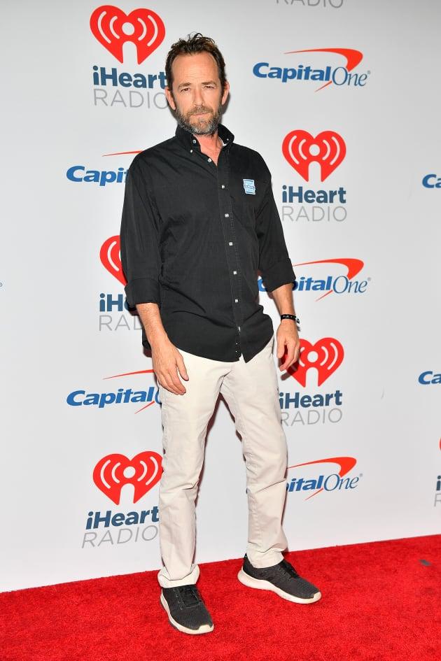 Luke Perry Attends iHeartRadio Music Festival Event