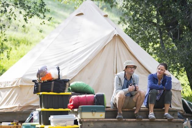 Camping Couple Horizontal