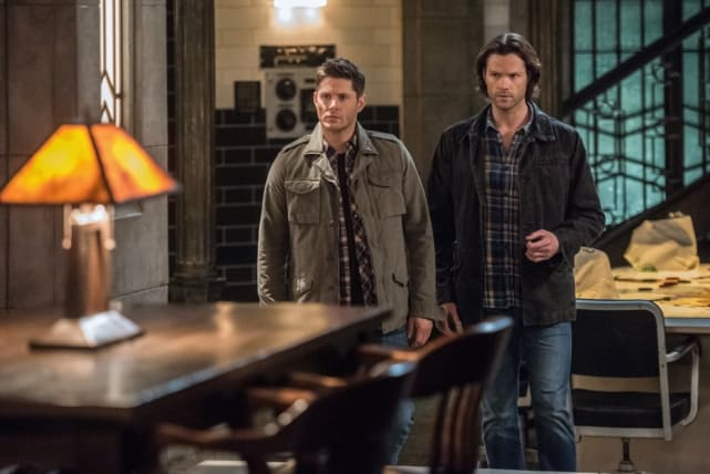 Sam and Dean relax in the bunker - Supernatural Season 12 Episode 17