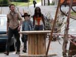 Rick, Carl and Michonne