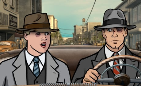 Archer and Poovey Driving Season 8 Episode 4