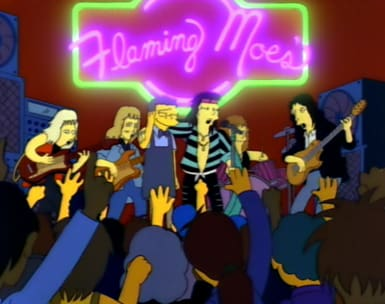 Aerosmith on The Simpsons