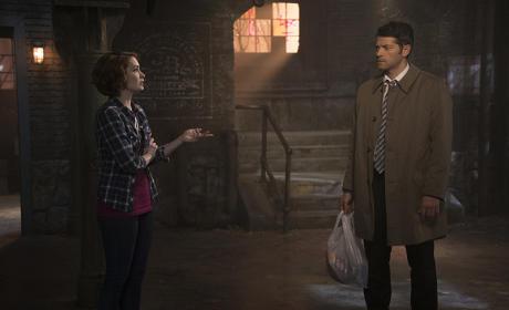 Charlie and Castiel - Supernatural Season 10 Episode 21