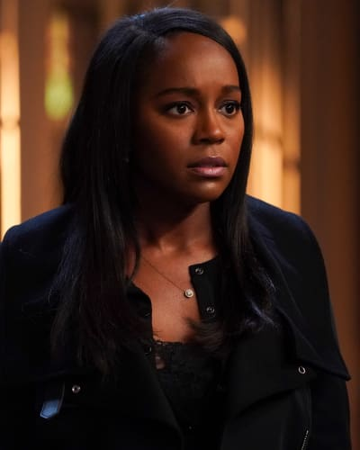 Startled Michaela - How To Get Away With Murder Season 6 Episode 1