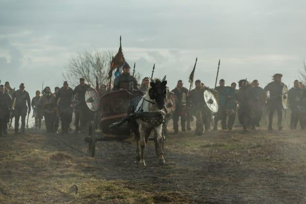 Ivar Rides into Battle - Vikings Season 4 Episode 19