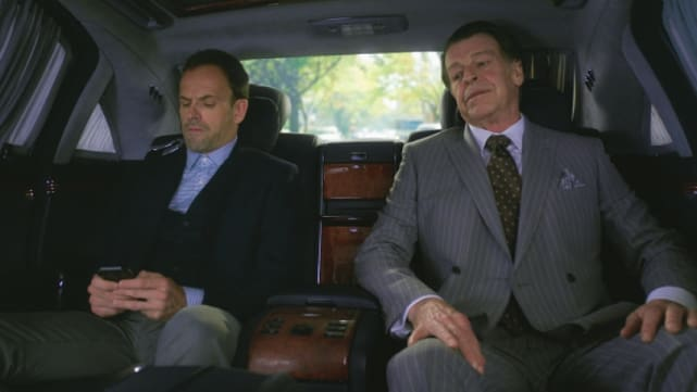 """John Noble as Morland Holmes - Elementary Season 4 Episode 6, """"The Cost of Doing Business"""""""