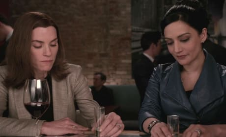 Julianna Margulies and that's Archie Panjabi - The Good Wife