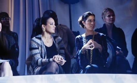 Hilda and Elena at Fashion Week