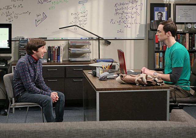 Howard Visits Sheldon at Work