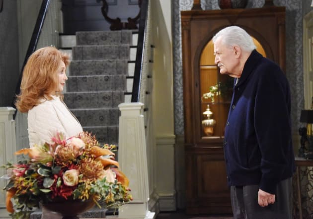 Maggie Holds Firm with Victor - Days of Our Lives