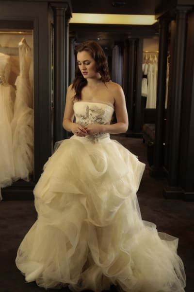 Blair in Her Wedding Dress