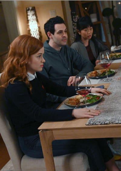 Zoey, Emily, David dinner - Zoey's Extraordinary Playlist Season 2 Episode 5