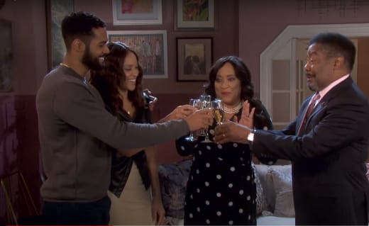 Celebrating Abe and Paulina's Engagement - Days of Our Lives