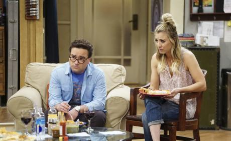 Leonard and Penny Look Puzzled - The Big Bang Theory Season 10 Episode 21