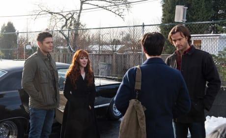 Sam, Dean and Rowena stop Gavin - Supernatural Season 12 Episode 13