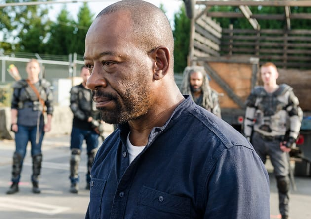 Morgan takes a stand - The Walking Dead Season 7 Episode 13