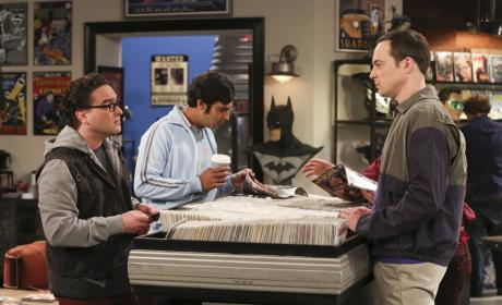 Raj, Leonard, and Sheldon Look at Comic Books - The Big Bang Theory Season 10 Episode 22