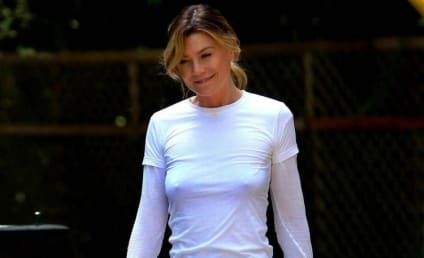 Ellen Pompeo Gets Some Exercise