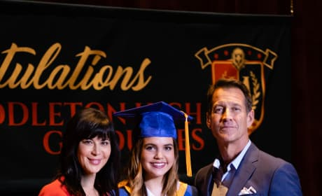 Cassie, Grace, and Sam at Graduation - Good Witch Season 5 Episode 10