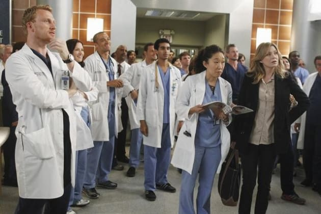 Owen, Cristina and Meredith