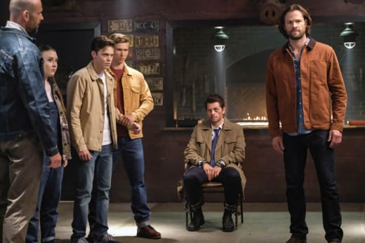 Jack, Castiel and Sam - Supernatural