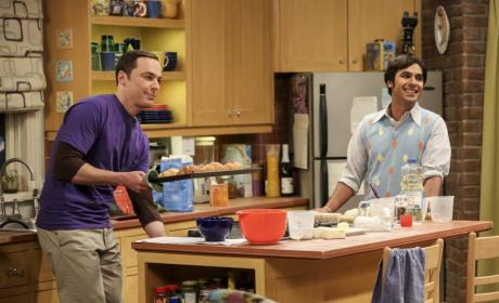 Raj and Sheldon Do Some Baking - The Big Bang Theory Season 10 Episode 22