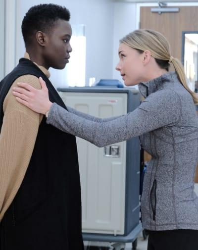 Nic Comforts Mina - Tall  - The Resident Season 3 Episode 10
