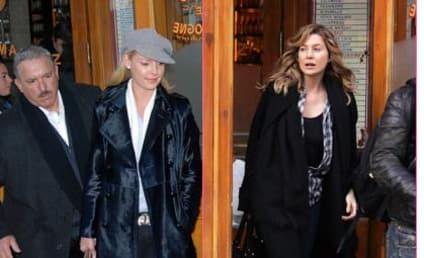 Ellen Pompeo, Katherine Heigl in N.Y. City