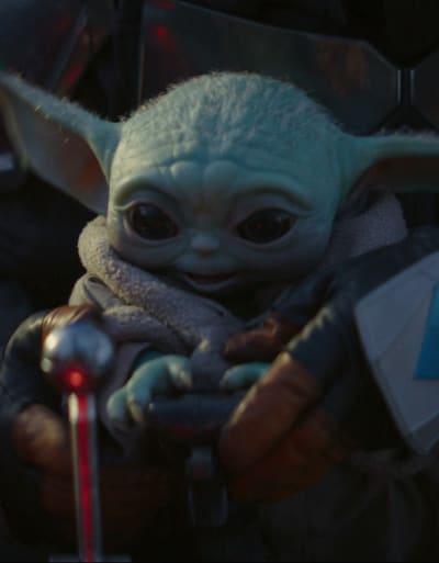 Super Happy Baby Yoda - The Mandalorian Season 1 Episode 4